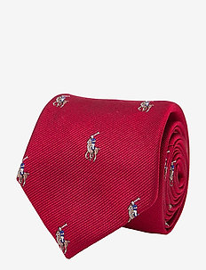 SILK-POLO PLAYER-NW-TIE - ties & bow ties - red