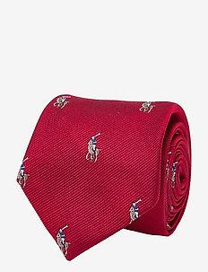 SILK-POLO PLAYER-NW-TIE - krawaty i muszki - red