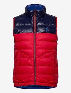 Reversible Water-Resistant Vest - vests - rl 2000 red/newpo
