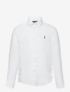 Linen Shirt - overhemden - white