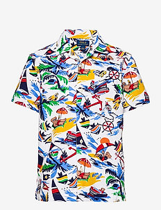 Polo Bear Cotton Oxford Camp Shirt - shirts - 5307 nautical dec