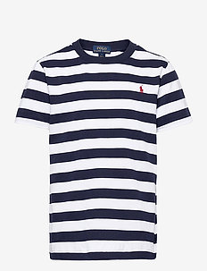 Striped Cotton Jersey Tee - short-sleeved - white/french navy