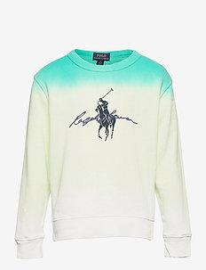SPA TERRY-LS CN-TP-KNT - sweatshirts - white dip dye mul