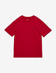 Cotton Jersey Crewneck Tee - short-sleeved - rl 2000 red