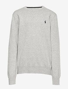 Cotton Crewneck Sweater - DARK SPORT HEATHE