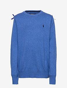 Cotton Crewneck Sweater - knitwear - dockside blue hea