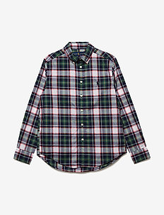 Plaid Stretch Cotton Shirt - GREEN MULTI