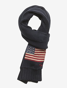 Flag Cotton Scarf - HUNTER NAVY