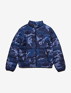 Packable Camo Down Jacket - NAVY CAMO
