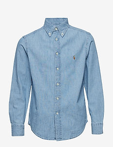 Cotton Chambray Shirt - LT BLUE
