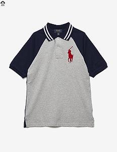 Cotton Mesh Polo Shirt - ANDOVER HEATHER
