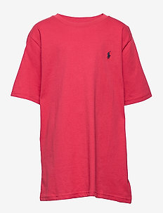 Cotton Jersey Crewneck Tee - sunrise red