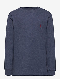 Cotton Jersey Crewneck T-Shirt - long-sleeved t-shirts - fresco blue hthr