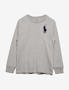 Cotton Jersey Crewneck T-Shirt - ANDOVER HEATHER