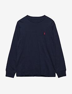Cotton Jersey Crewneck Tee - long-sleeved t-shirts - cruise navy