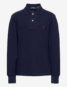 Slim Fit Cotton Mesh Polo - polo shirts - french navy