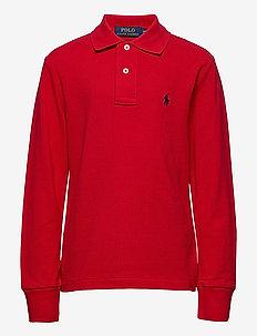 BASIC MESH-SLIM POLO-TP-KNT - poloskjorter - rl 2000 red