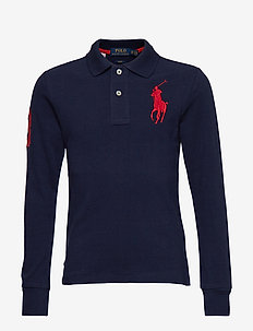 Slim Fit Cotton Mesh Polo - FRENCH NAVY