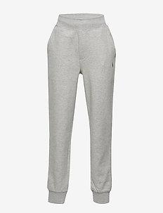 Cotton-Blend Drawstring Pant - LIGHT GREY HEATHE