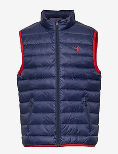 Packable Quilted Down Vest - FRENCH NAVY