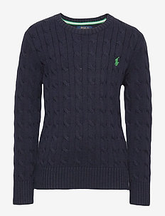 Cable-Knit Cotton Sweater - neuleet - rl navy