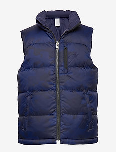 Reversible Down Vest - NAVY CAMO