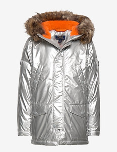 Metallic Down Parka - SILVER