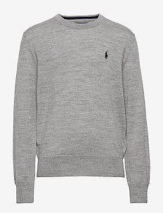 Merino Wool Crewneck Sweater - DARK SPORT HEATHE