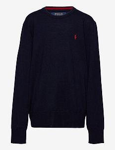 Merino Wool Crewneck Sweater - strik - navy