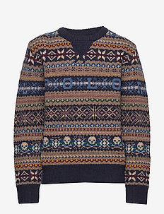 Polo Fair Isle Sweater - RL NAVY MULTI