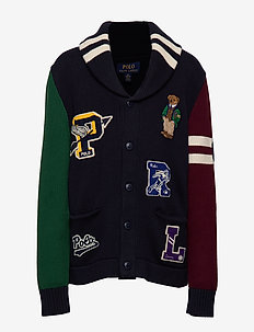 Polo Bear Cotton Cardigan - RL NAVY MULTI