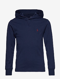 Cotton Jersey Hooded Tee - FRENCH NAVY