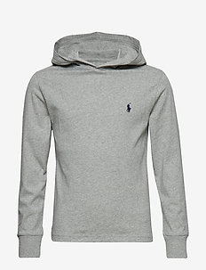 Cotton Jersey Hooded Tee - LT GREY HEATHER