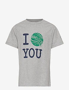 Wimbledon Cotton Graphic Tee - ANDOVER HEATHER