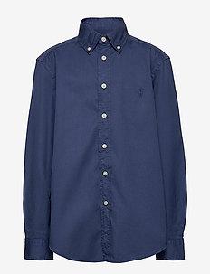 Garment-Dyed Twill Shirt - overhemden - light navy