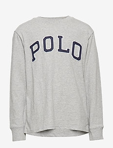 Polo Cotton Jersey Tee - LT GREY HEATHER