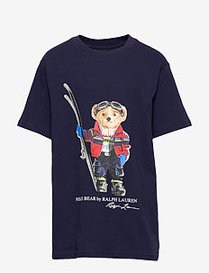 Snowboard Bear Cotton Tee - FRENCH NAVY