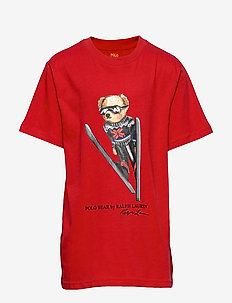Snowboard Bear Cotton Tee - RL 2000 RED