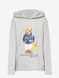 Beach Bear Hooded Tee - LIGHT GREY HEATHE