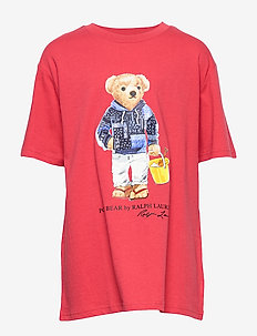 Beach Bear Cotton Tee - SUNRISE RED