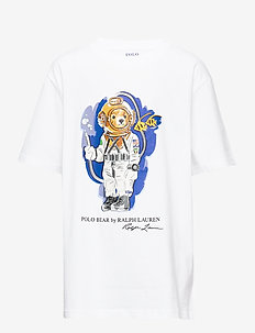 Beach Bear Cotton Tee - WHITE