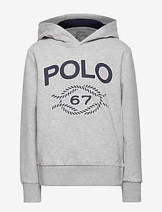Double-Knit Graphic Hoodie - LT GREY HEATHER