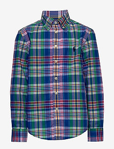 Plaid Cotton Poplin Shirt - ROYAL MULTI