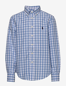 Gingham Cotton-Blend Shirt - BLUE LAGOON MULTI