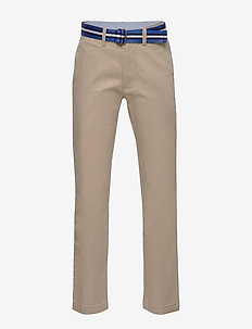 Belted Stretch Skinny Chino - trousers - classic khaki
