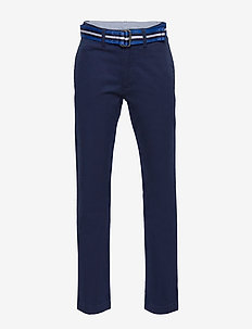 Belted Stretch Skinny Chino - NEWPORT NAVY