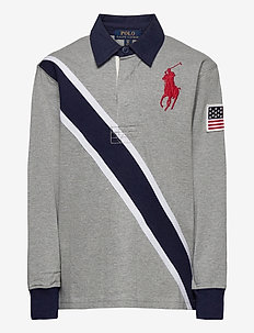 20/1 JERSEY-LS RUGBY-TP-KNT - polos - andover heather