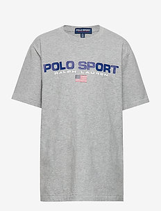 Polo Sport Cotton Jersey Tee - logo - andover heather