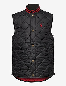 SOLID PENNY-BASBLL VEST-OW-VST - vests - polo black