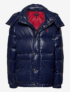 Water-Repellent Down Jacket - daunen- und steppjacken - cruise navy